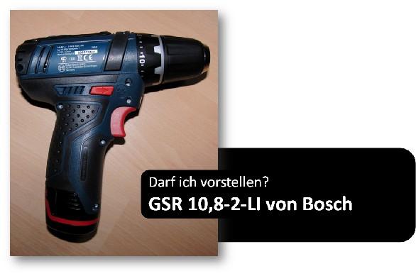 Es geht weiter: GSR 10,8-2-LI Professional